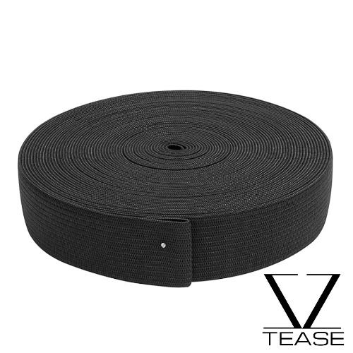 Black 1 inch Knit Elastic