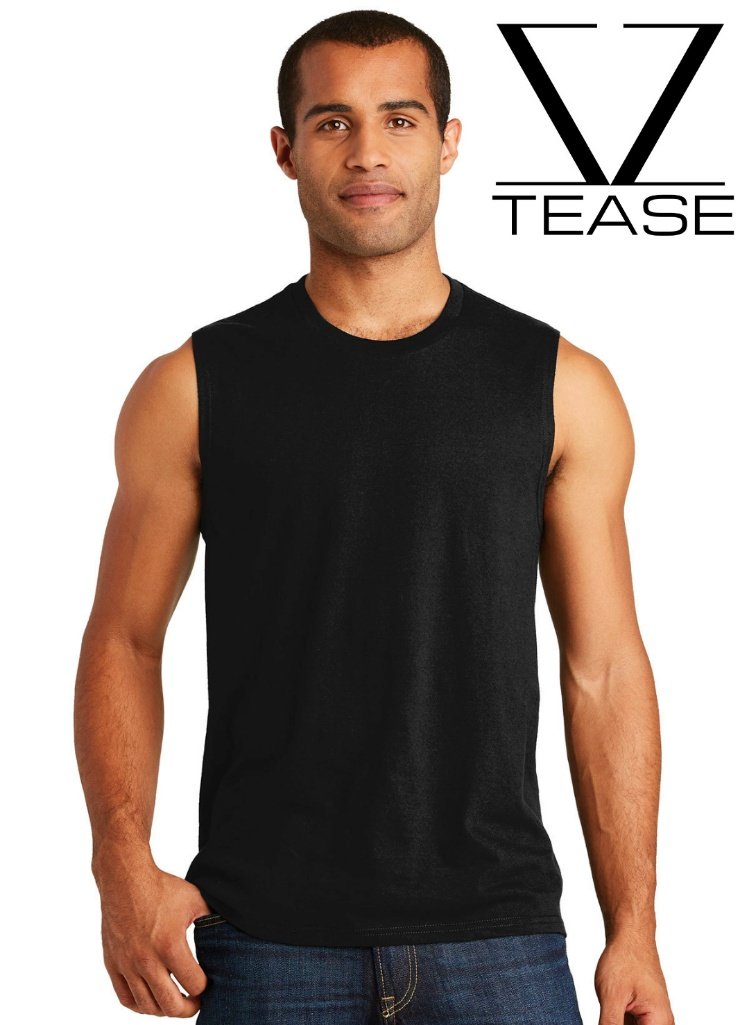 Black Muscle Tank Men's Tee