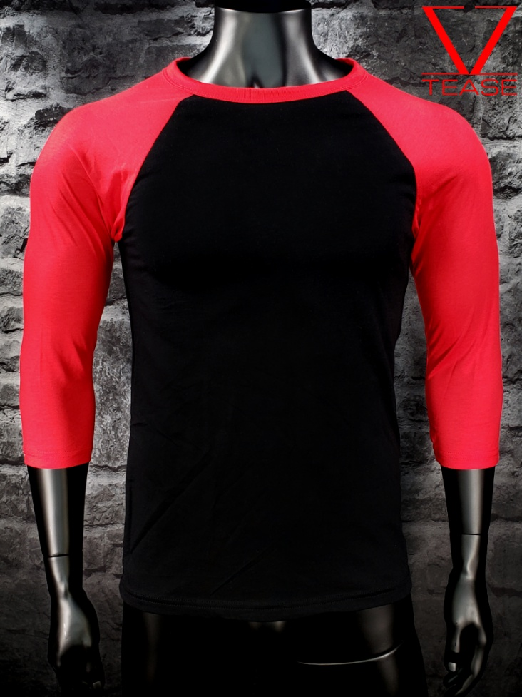 Black Red Baseball Shirt