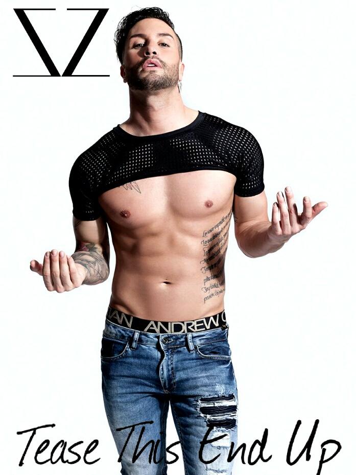 Black Short Sleeve Sports Mesh Raglan Men's Crop Top