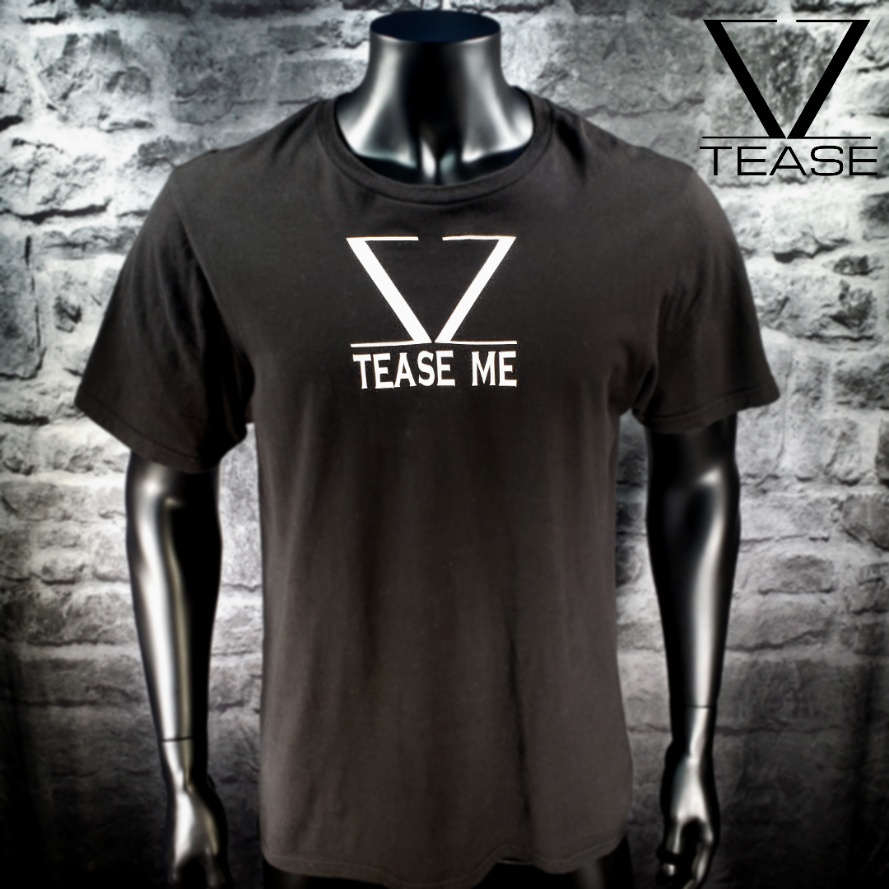 Logo TEASE ME Black Men's T Shirt