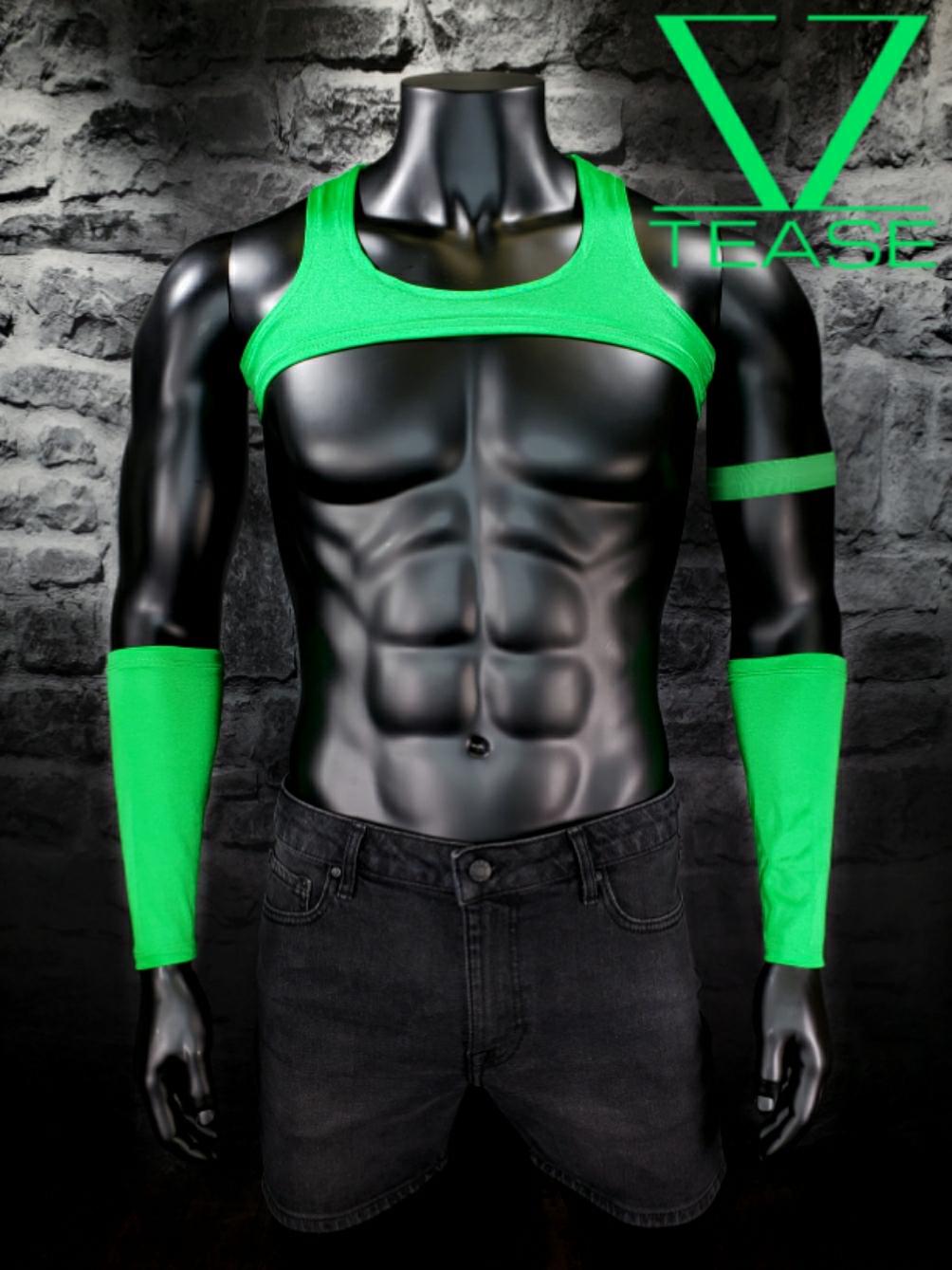 Green Men's Crop Tank Top