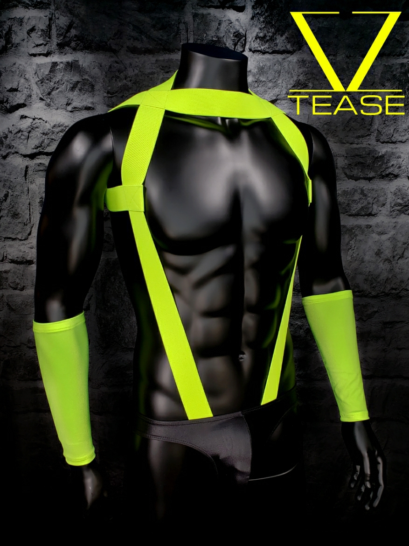 Chartreuse Inspector Men's Body Harness