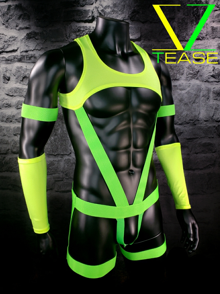Chartreuse Deputy Chief Lime Men's Body Harness