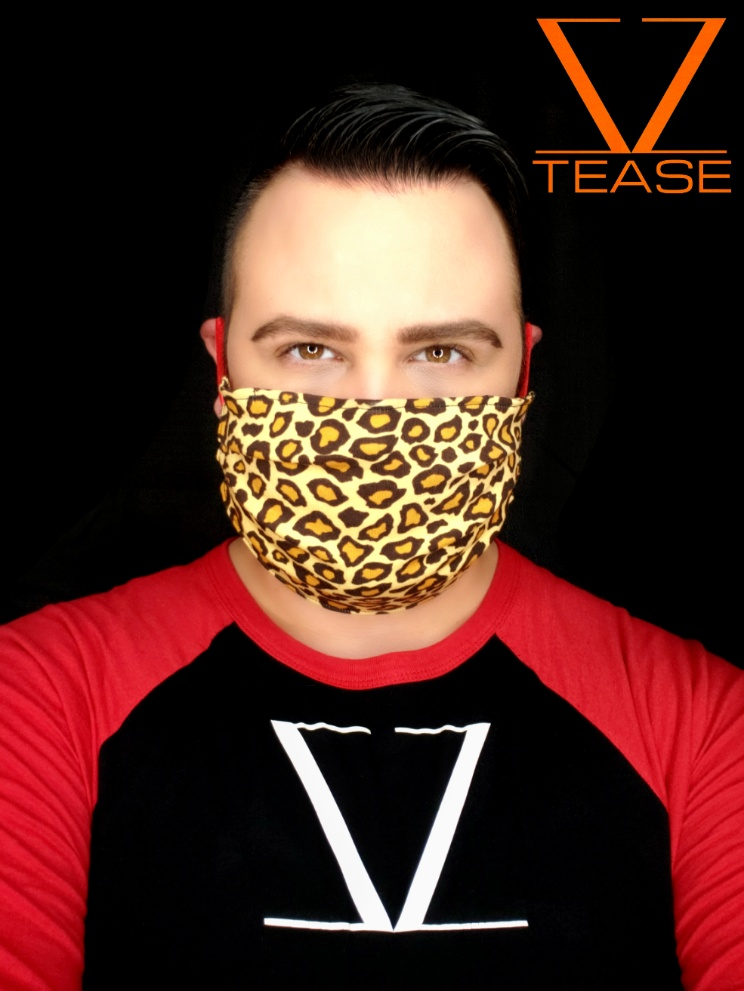 COVER UP FACE MASK BROWN LEOPARD