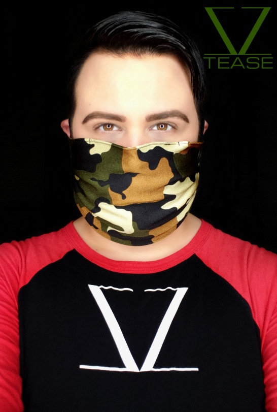 COVER UP FACE MASK GREEN CAMO
