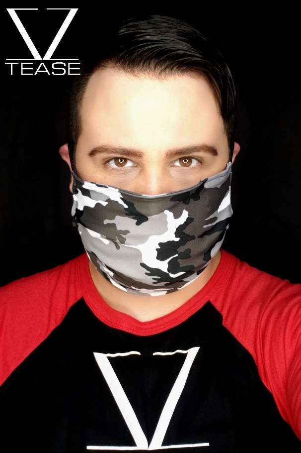 COVER UP FACE MASK GREY CAMO