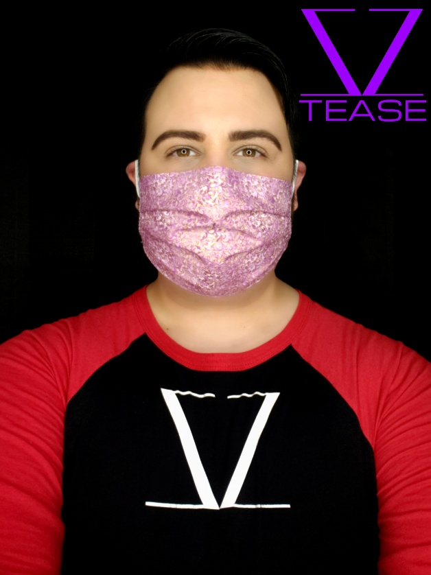 COVER UP FACE MASK LAVENDER GOLD WHIMSICAL