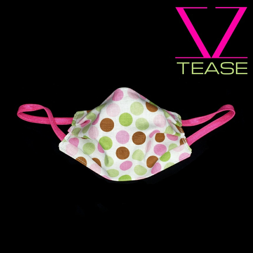 COVER UP FACE MASK PINK MINT DOTS