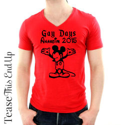Mickey Mouse Gay Days Anaheim Disneyland Red Shirt