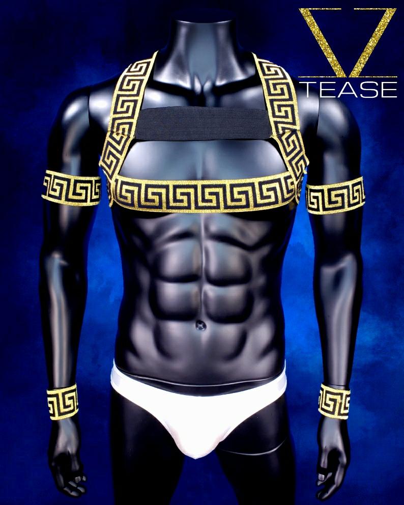 Golden Greek God Bouncer Men's Harness