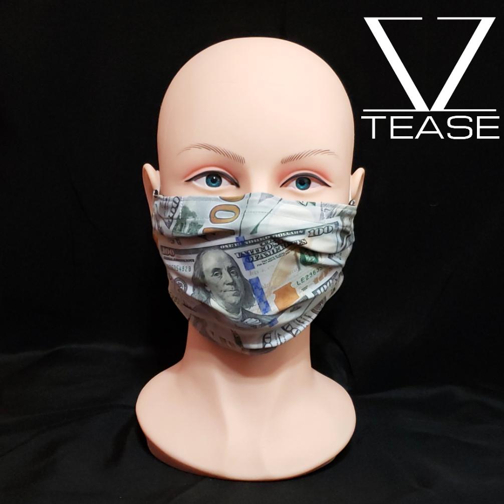 FACE MASK Hundred Dollars Bills