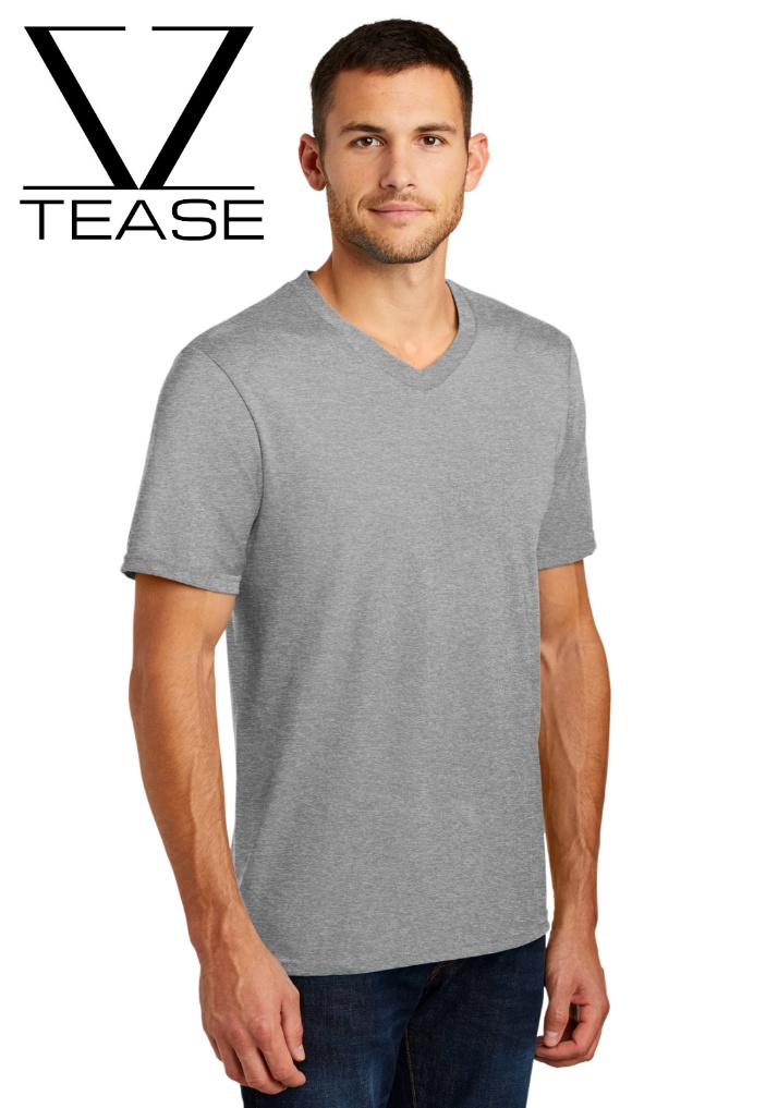 Grey Men's V Neck T Shirt