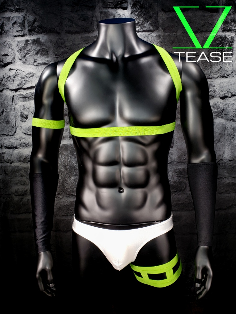 Lime Strappy Shoulder Men's Harness