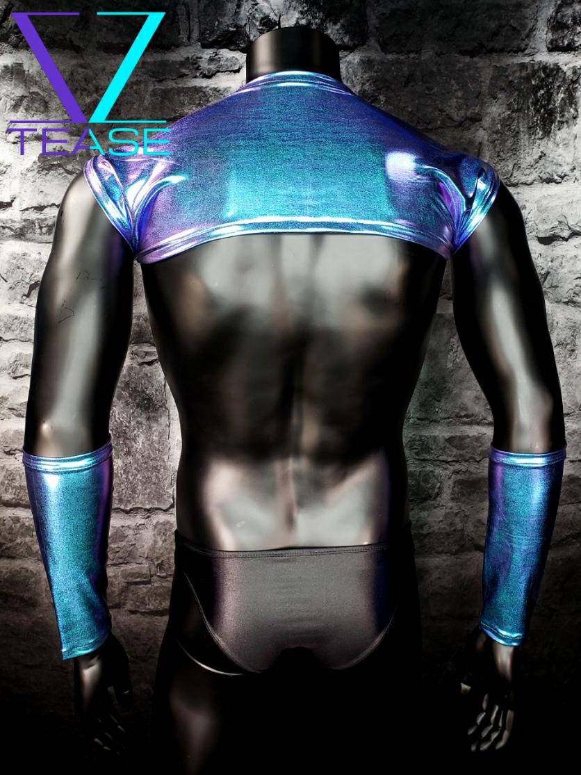 Majestic Hologram Men's Shoulder Shrug Top
