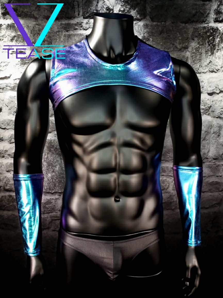 Majestic Hologram Guy's Muscle Crop Top