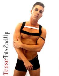 Men's Harness Elastic Black White Club wear