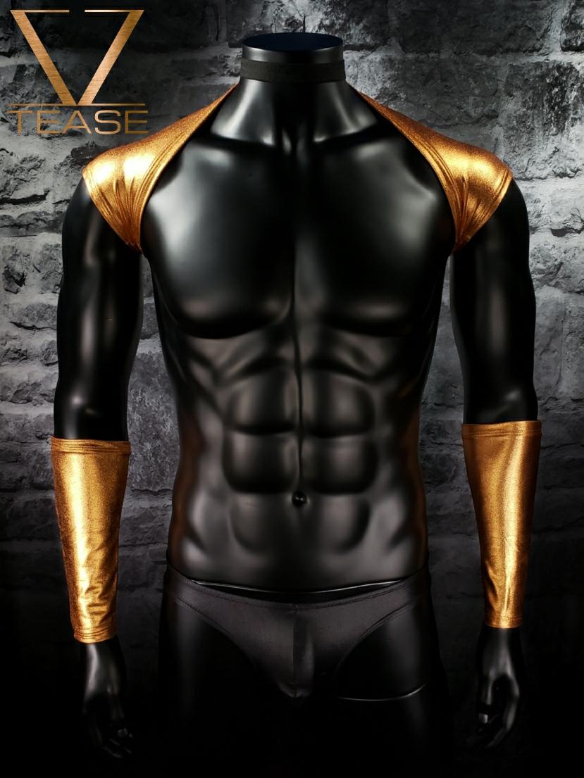 Copper Men's Metallic Shoulder Shrug
