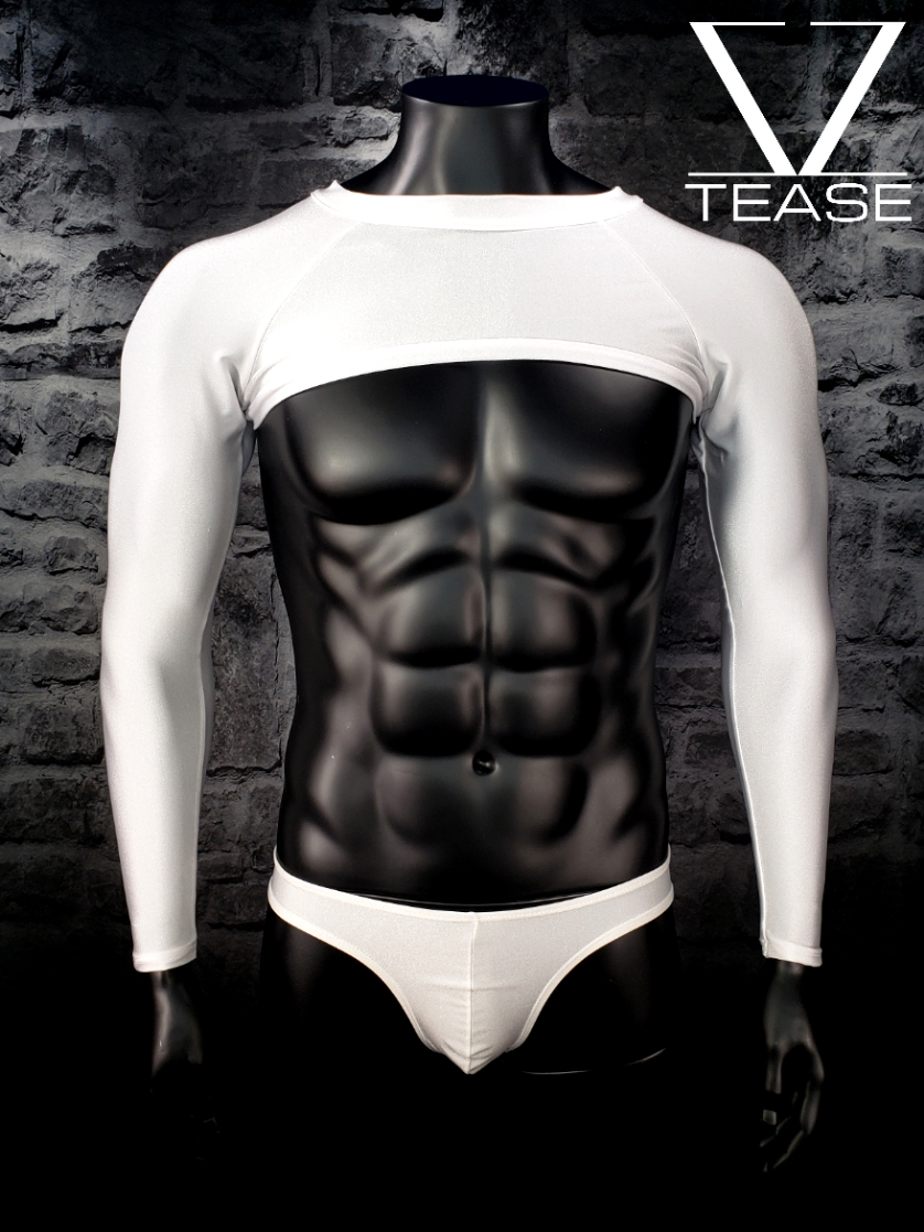 Men's White Super Crop Top