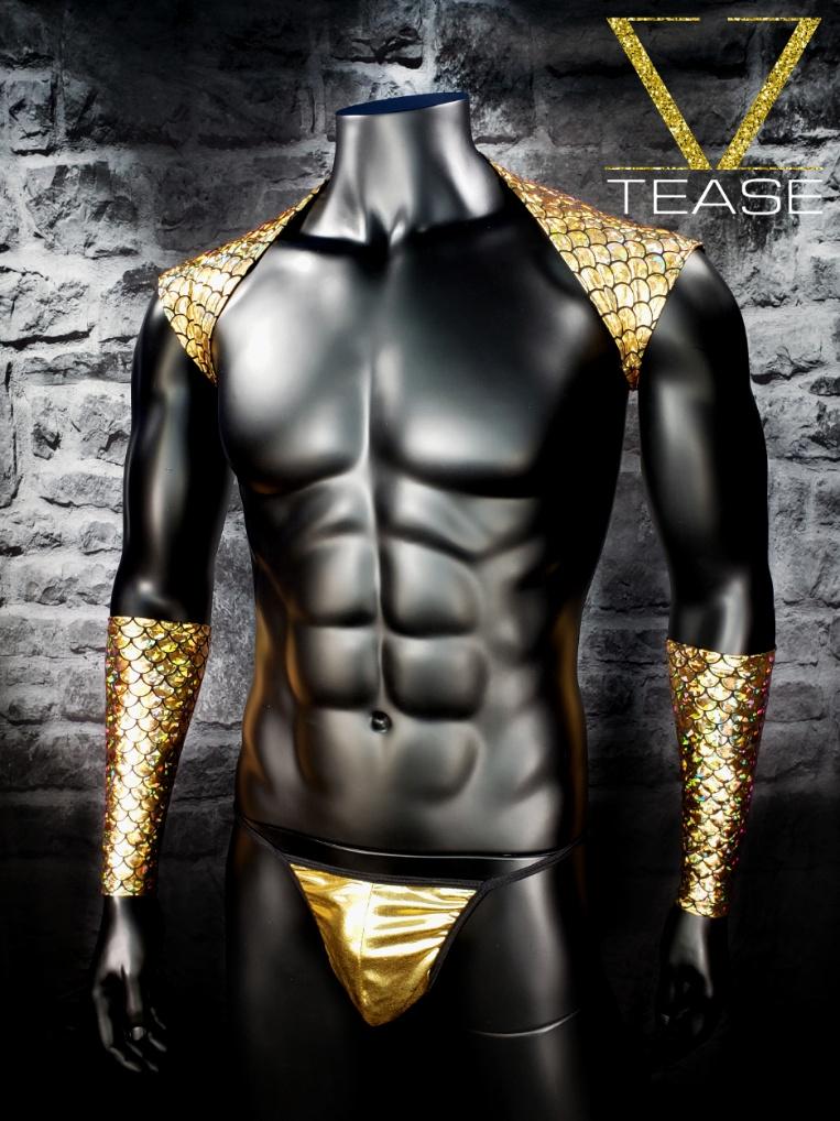 Merman Men's Gold Shoulder Shrug