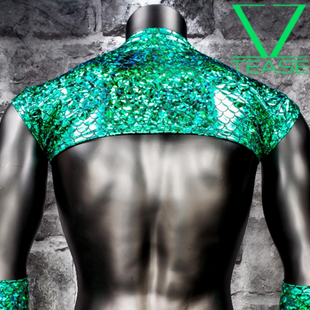 Merman Men's Green Shoulder Shrug