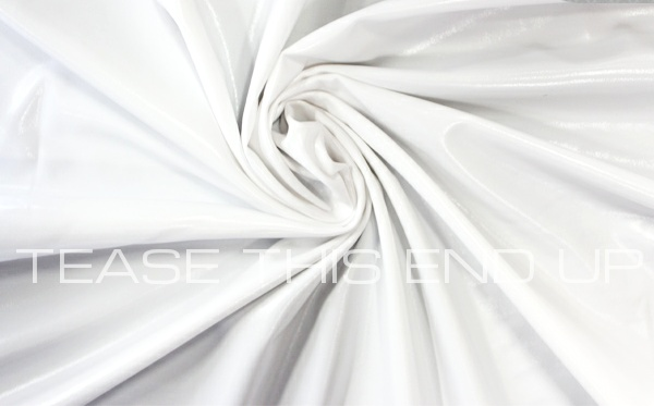 Metallic White Spandex 4 Way Stretch Fabric