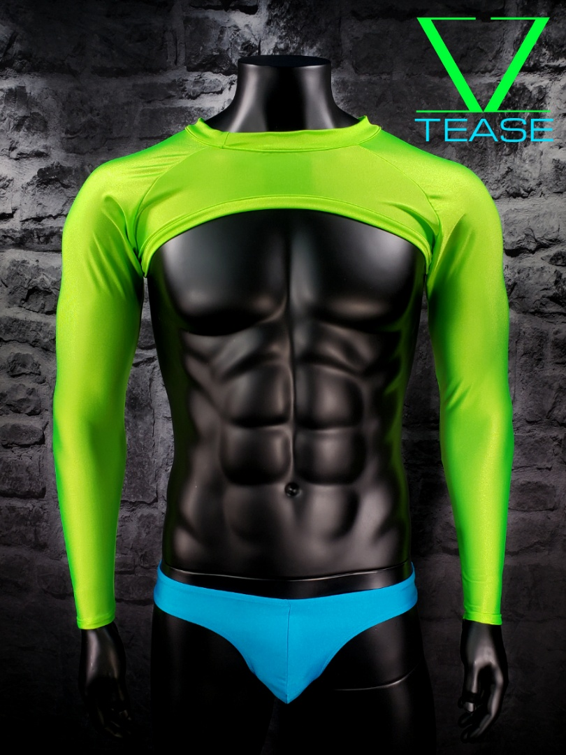 Neon Lime Men's Super Crop Top
