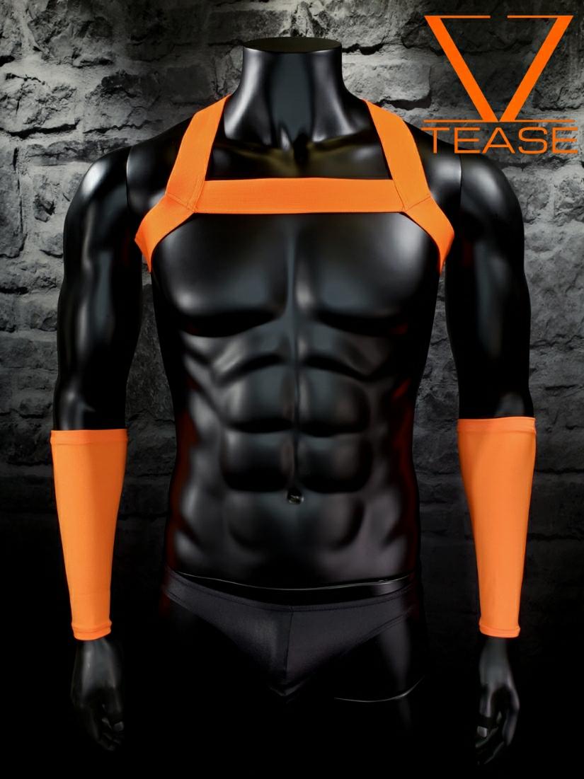Neon Orange Single Chest Harness