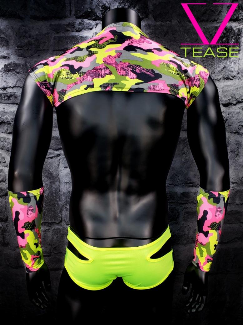 Pink Camouflage Men's Shoulder Shrug