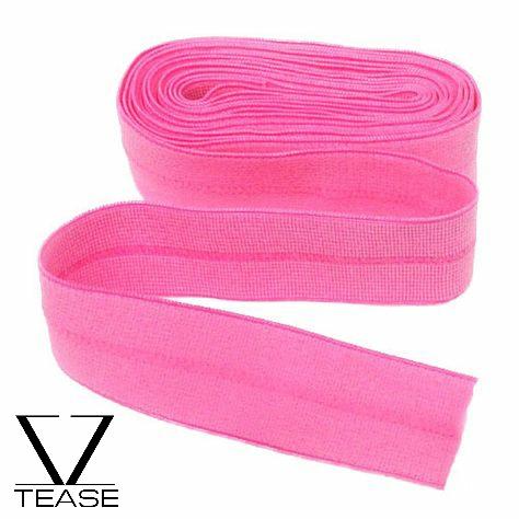 Pink FOE 1 inch Elastic