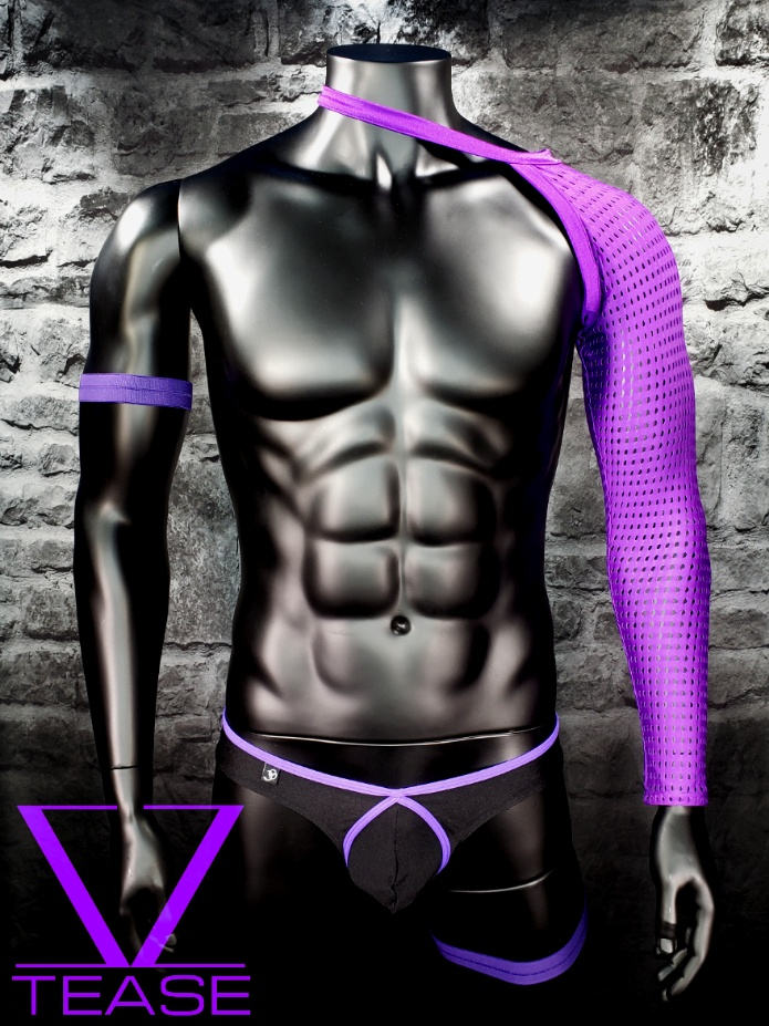 Purple Single Arm Sleeve Mesh