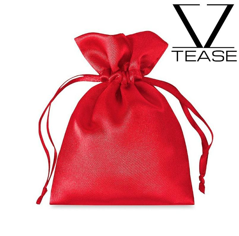 Red Satin Drawstring Bag
