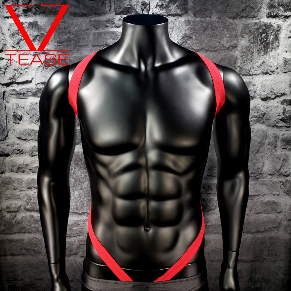 CLEARANCE SMALL Red Shoulder Body Harness