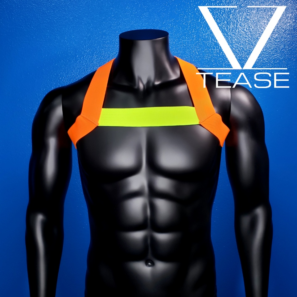Sexy Crossing Guard Single Chest Harness