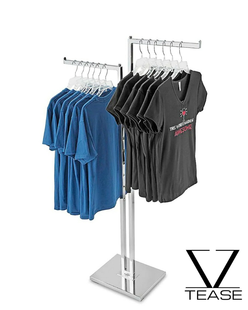 Straight Arm Clothes Rack - 2 Way