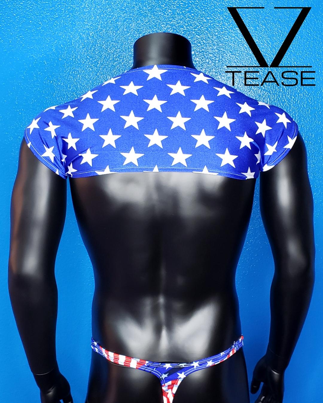 USA Flag Stars Shoulder Shrug