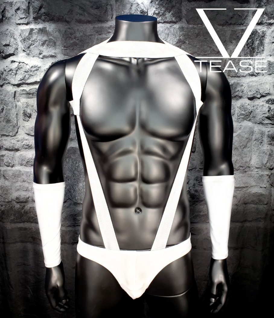 White Inspector Men's Body Harness