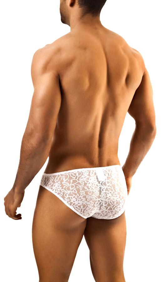 White Lace Classic Men's Bikini
