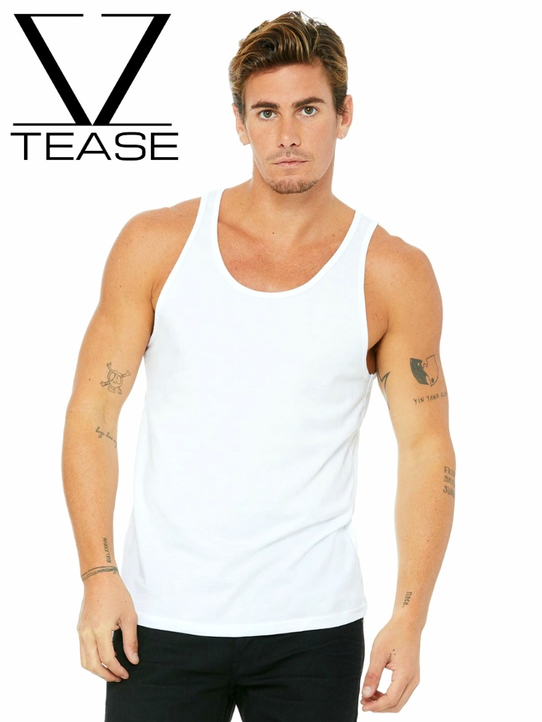 White Men's Tank Top