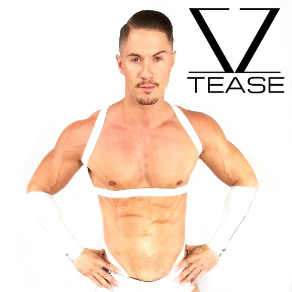 White Strappy Body Men's Harness