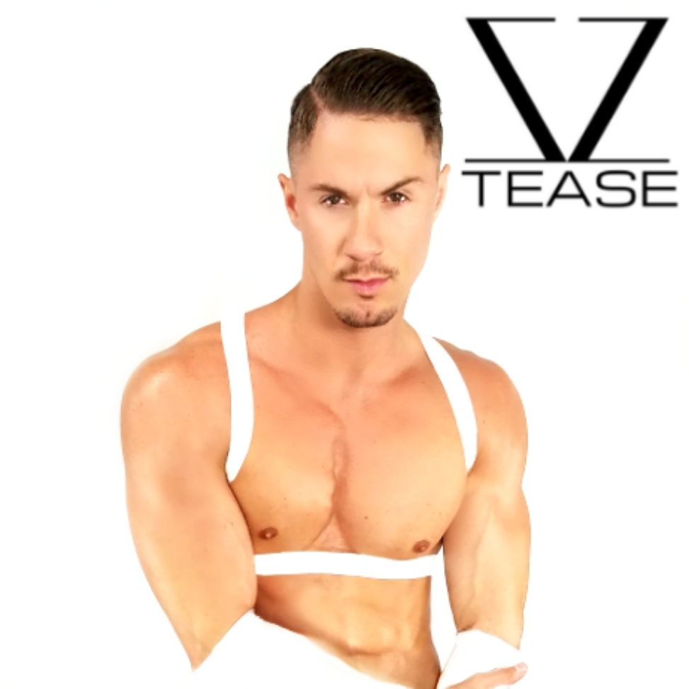 White Strappy Shoulder Men's Harness