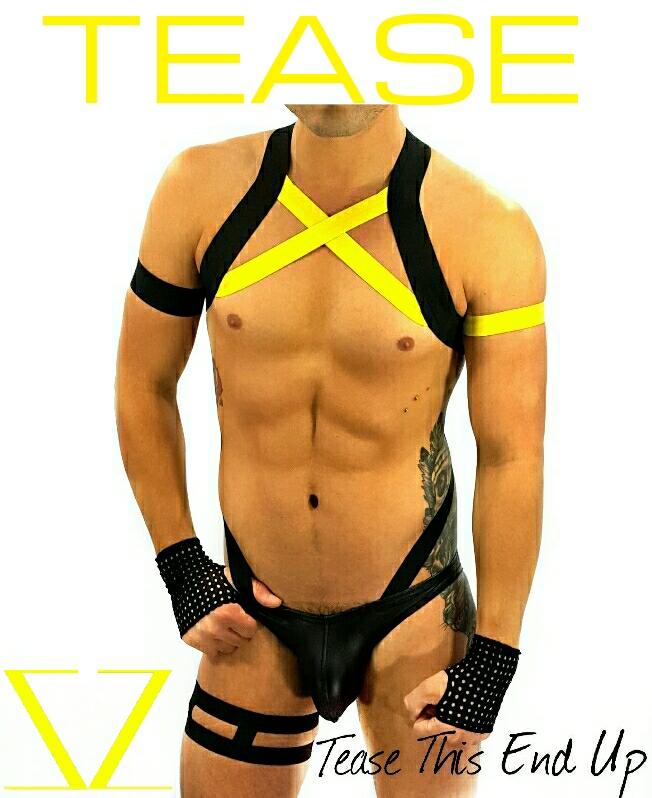 Black Yellow X-Men Body Men's Harness