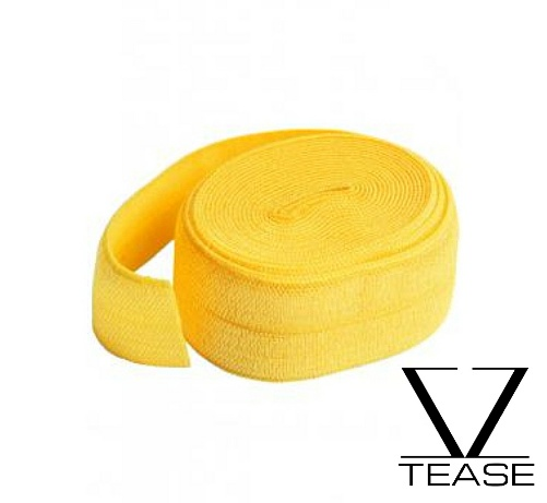 Yellow FOE 1 inch Elastic