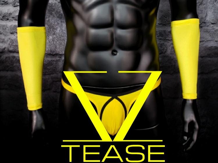 Yellow Men's Gauntlets Sleeves