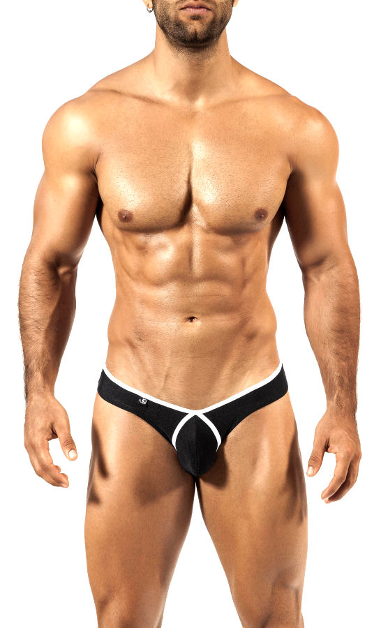 White on Black Bikini Pride Frame Underwear