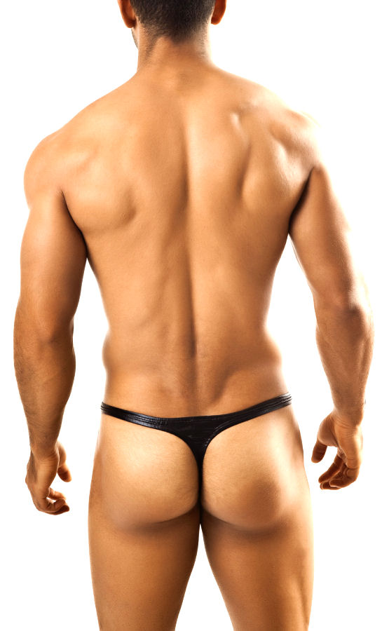 SHINY BLACK Classic Men's Thong